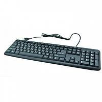 Проводная клавиатура USB для ПК ноутбука 104 клавиши UKС TC-01 Черная, фото 1