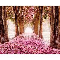 """Картина по номерам на дереве 40*50 """"Цветы""""  RSB8153 в подарочной коробке"""