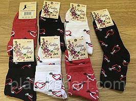 Шкарпетки жіночі високі з малюнками стретч Україна 36-40