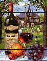 Картина по номерам на дереве 40*50см. Вино и виноград Rainbow Art GXT28186 в подарочной коробке