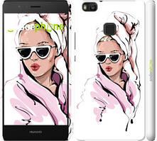 "Чехол на Huawei P9 Lite Девушка в очках 2 ""4714c-298-535"""