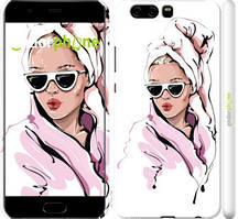"Чехол на Huawei P10 Девушка в очках 2 ""4714c-780-535"""