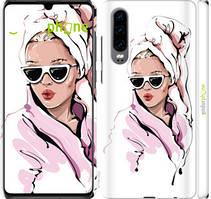 "Чехол на Huawei P30 Девушка в очках 2 ""4714c-1622-535"""