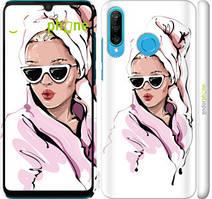 "Чехол на Huawei P30 Lite Девушка в очках 2 ""4714c-1651-535"""