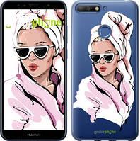 """Чехол на Huawei Honor 7A Pro Девушка в очках 2 """"4714u-1440-535"""""""
