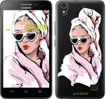 """Чохол на Huawei Honor 4 Play Дівчина в окулярах 2 """"4714u-213-535"""""""