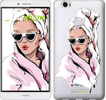 """Чехол на Huawei Honor Note 8 Девушка в очках 2 """"4714u-418-535"""""""
