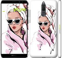 """Чехол на Huawei Honor 9i Девушка в очках 2 """"4714c-1630-535"""""""