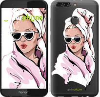 """Чехол на Huawei Honor V9 / Honor 8 Pro Девушка в очках 2 """"4714u-1246-535"""""""