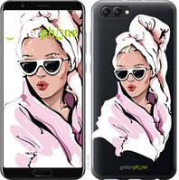 """Чехол на Huawei Honor V10 / View 10 Девушка в очках 2 """"4714u-1579-535"""""""
