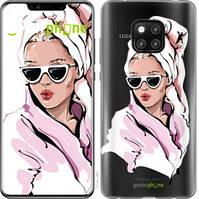 """Чехол на Huawei Mate 20 Pro Девушка в очках 2 """"4714u-1567-535"""""""