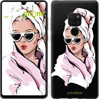"""Чехол на Huawei Mate 20 Девушка в очках 2 """"4714u-1578-535"""""""