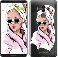 """Чехол на Huawei Mate 10 Pro Девушка в очках 2 """"4714u-1138-535"""""""