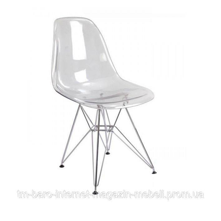 Стул Тауэр А прозрачный акрил, ножки хром (Прайз), Eames