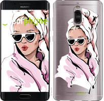 """Чехол на Huawei Mate 9 Pro Девушка в очках 2 """"4714u-819-535"""""""