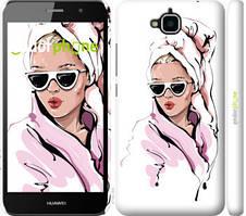 """Чехол на Huawei Enjoy 5 Девушка в очках 2 """"4714c-475-535"""""""