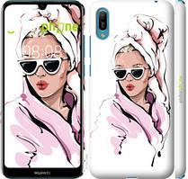 """Чехол на Huawei Y6 2019 Девушка в очках 2 """"4714c-1666-535"""""""