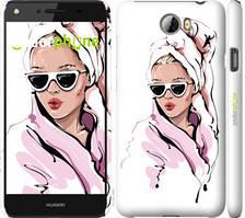 """Чехол на Huawei Y5 II Девушка в очках 2 """"4714c-496-535"""""""