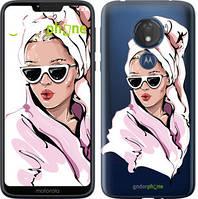 """Чехол на Motorola Moto G7 Power Девушка в очках 2 """"4714u-1657-535"""""""