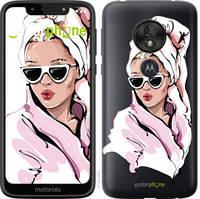 """Чехол на Motorola Moto G7 Play Девушка в очках 2 """"4714u-1656-535"""""""