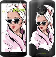 """Чехол на Motorola Moto G6 Девушка в очках 2 """"4714u-982-535"""""""