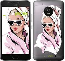"""Чехол на Motorola Moto G5 Девушка в очках 2 """"4714u-832-535"""""""