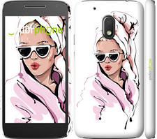 """Чехол на Motorola Moto G4 Play Девушка в очках 2 """"4714c-860-535"""""""