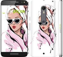 "Чехол на Motorola Moto X Style Девушка в очках 2 ""4714c-455-535"""