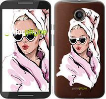 """Чохол на Motorola Moto X2 Дівчина в окулярах 2 """"4714u-372-535"""""""
