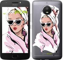 """Чехол на Motorola Moto E4 Девушка в очках 2 """"4714u-981-535"""""""