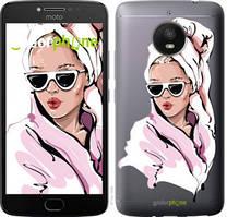 """Чехол на Motorola Moto E4 Plus Девушка в очках 2 """"4714u-1000-535"""""""