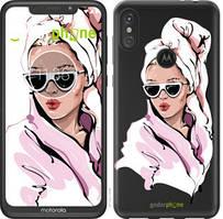 """Чехол на Motorola Moto E6 Plus Девушка в очках 2 """"4714u-1780-535"""""""