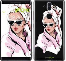 """Чехол на Nokia 8 Sirocco Девушка в очках 2 """"4714u-1619-535"""""""