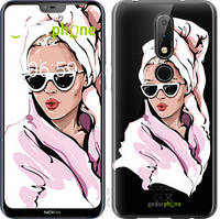 """Чехол на Nokia 6.1 Plus Девушка в очках 2 """"4714u-1539-535"""""""