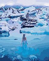 Картина по номерам 40*50см. Девушка в Антарктике GX28893 Brushme