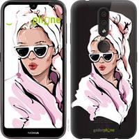 """Чехол на Nokia 4.2 Девушка в очках 2 """"4714u-1680-535"""""""