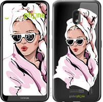 """Чехол на Nokia 2.2 Девушка в очках 2 """"4714u-1706-535"""""""