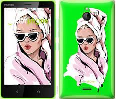 """Чехол на Nokia X2 Dual SIM Девушка в очках 2 """"4714u-469-535"""""""