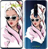 "Чехол на OnePlus 7 Pro Девушка в очках 2 ""4714u-1696-535"""
