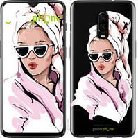 "Чехол на OnePlus 6T Девушка в очках 2 ""4714u-1587-535"""