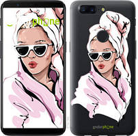 "Чехол на OnePlus 5T Девушка в очках 2 ""4714u-1352-535"""