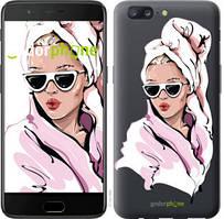 """Чехол на OnePlus 5 Девушка в очках 2 """"4714u-969-535"""""""