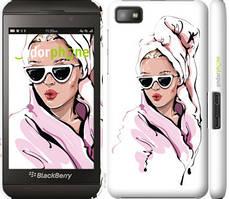 "Чехол на Blackberry Z10 Девушка в очках 2 ""4714c-392-535"""