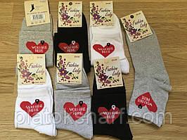 Шкарпетки жіночі 36-40 кольорові Український трикотаж (стрейч)