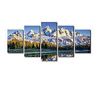 """Модульная картина на холсте """"Снежные горы"""" 200х100см, фото 1"""