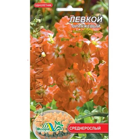 Левкой оранжевый цветы однолетние, семена 0.1 г