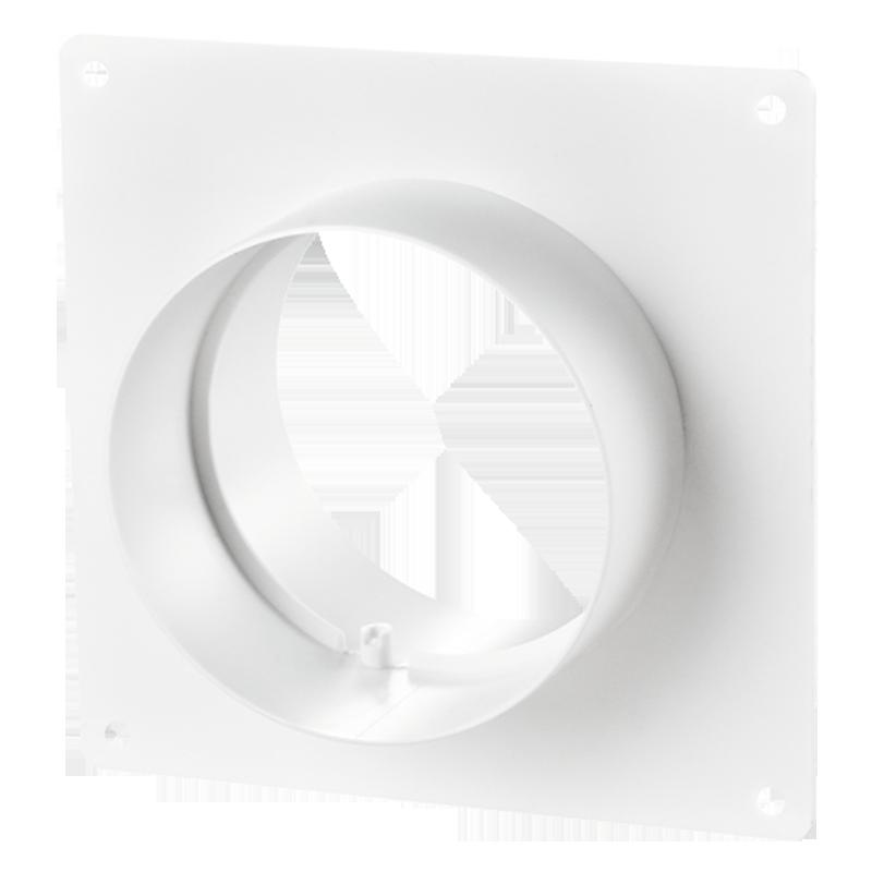 Соединитель с пластиной стеновой d100