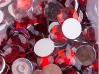 Страза круглая 14 мм красная