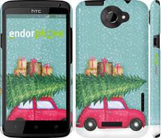 """Чехол на HTC One X Машина с подарками """"4711c-42-535"""""""