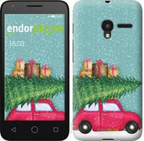 """Чехол на Alcatel One Touch Pixi 3 4.5 Машина с подарками """"4711u-408-535"""""""